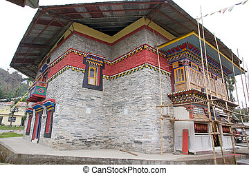 Labrang Gompa , Sikkim, India - Architecture details of the...