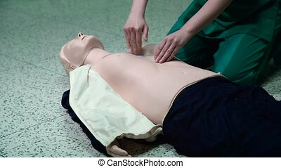 First Aid Cardiopulmonary Resuscitation CPR Technique How to...