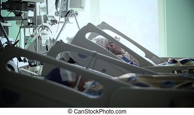 Intensive Care Unit with the patient HD