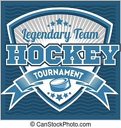 Hockey team logo template Emblem, logotype template, t-shirt...