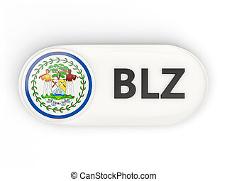 Round icon with flag of belize