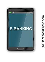 E-Banking concept - Render illustration of E-Banking title...