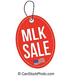 Martin Luther King Day Sale label or price tag