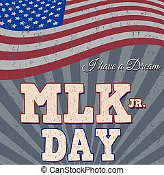 Martin Luther King Day typographic design