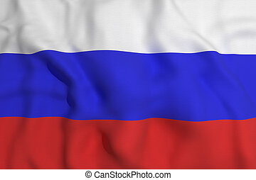 russian flag - 3d rendering of a russian flag waving