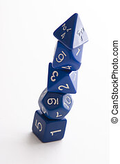 Pyramid of dice