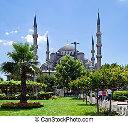Istanbul - The Sultan Ahmed Mosque in Istanbul, Turkey