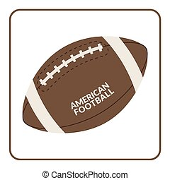 Ball for american football isolated on a white background...