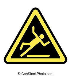 slippery yellow sign - Wet floor sign Slippery caution image...