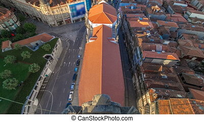 Red roofs of city centre and Clerigos church - view from...