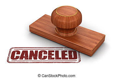 Stamp Cancelled Image with clipping path