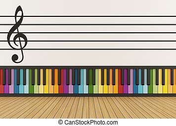 Colorful music room