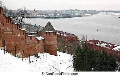 Winter view of Kremlin Nizhny Novgorod