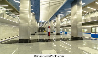 modern subway station Delovoy center, business center...