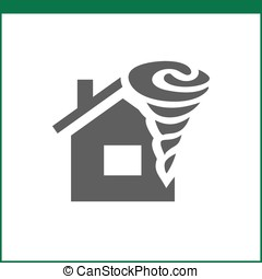 Property insurance icon. Home protections and insurance...