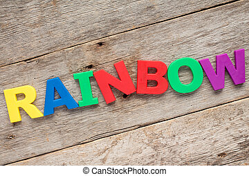 Rainbow - letter R - Funny alphabet for children Rainbow -...
