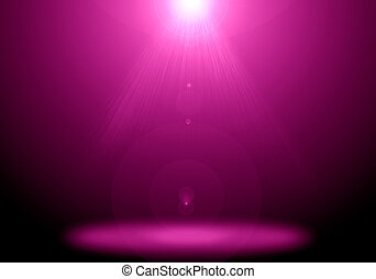 Abstract image of pink lighting flare on the floor stage