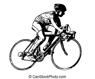race bicyclist - vector