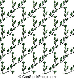 Liana leaf green pattern