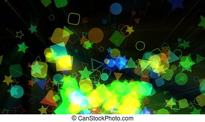 Colorfull geometric background animation, made from circles,...