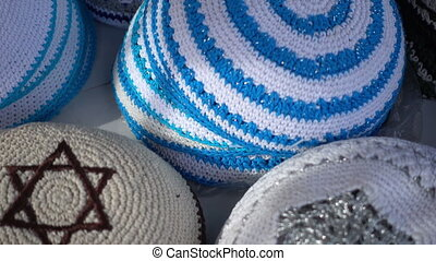 Jewish yarmulke - variety of colors on the market