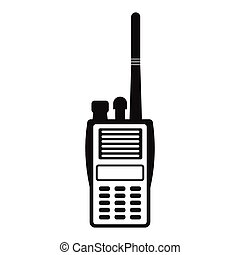 Military radio simple icon. Shortwave radio transmitter for...