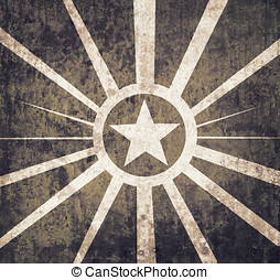 Vintage military star background