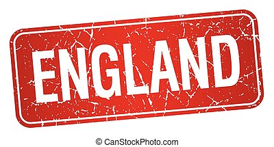 England red stamp isolated on white background