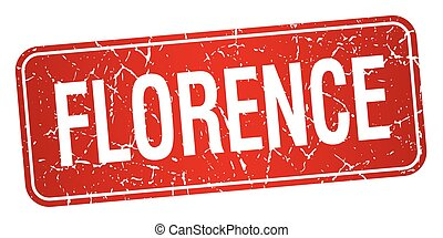 Florence red stamp isolated on white background