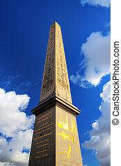 Concorde obelisk - Obelisk at place de la Concorde in Paris,...