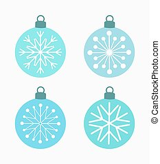 Winter snowflake baubles. Vector illustration