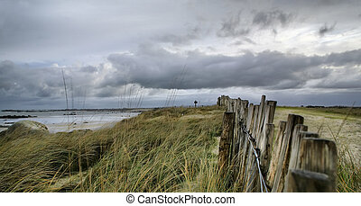 Ocean in storm, France, Hdr - High density range image on...