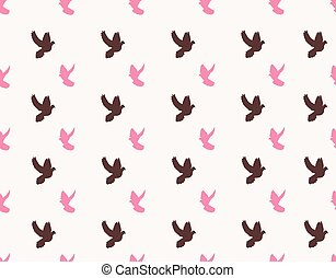 doves - vector seamless dove background