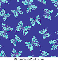 Seamless pattern with butterflies Summer background Vintage...