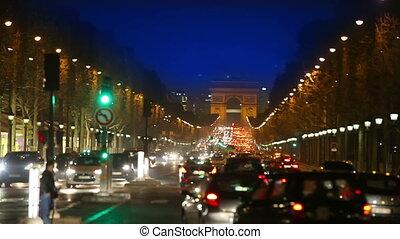 France Paris Night street - France Paris Night street Night...