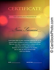 Certificate and diploma template - Vertical holiday...