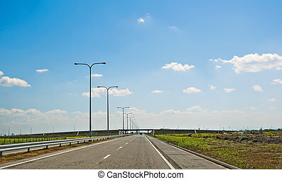 Expressway - The newly constructed SCTEX highway in Northern...