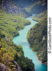 st croix lake les gorges du verdon provence france. top view