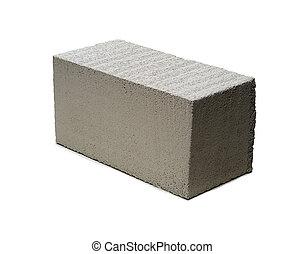 cement brick white background