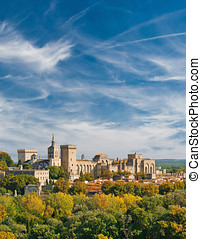 View of Papal palace in Avignon, France Autumn 2015