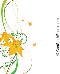 elegant flowers - vector illustration of a floral background