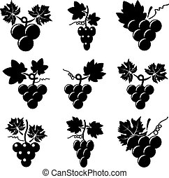 icons of grapes
