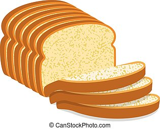 Slices bread Vector Clipart Royalty Free. 3,041 Slices bread clip art ...