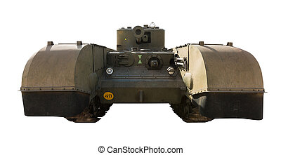 vintage the tank isolated on a white background