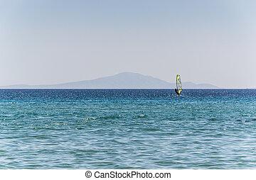 Beach of Parasporos in Paros Island - Greece