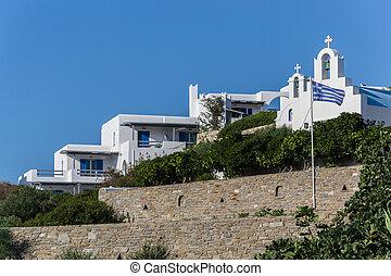 Characteristic landscape in Paros Island - Greece