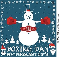Boxing day card. - Boxing day sale design. Invitation card,...