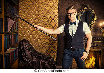 elegant man - Successful handsome young man in classic...