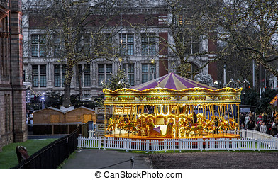 merry go round - London, UK, 6 December 2015 - Showing a...