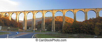 Bridge, viaduct, Souillac, archway, autumn, - Souillac :...
